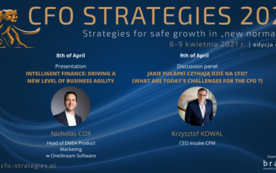 Incube CPM & OneStream Software will take part in the CFO Strategies 2021 conference